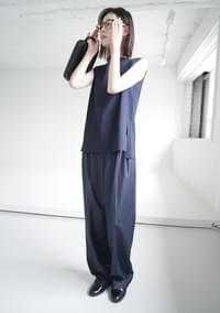 structure silhouette sleeveless