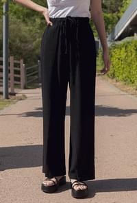 Cotton Plain Wide Bending Pants