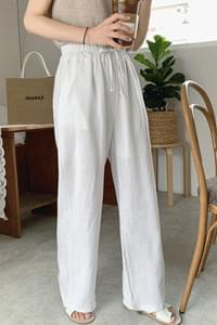 Together Linen Wide Pants-Oatmeal