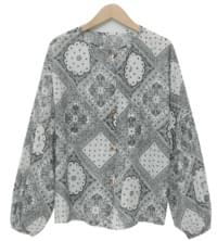 Paisley pattern cotton blouse_N