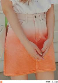 BADY GRADATION WASHING DENIM SKIRT