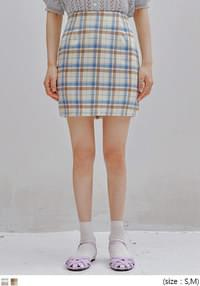 ONDE CHECK H LINE MINI SKIRT
