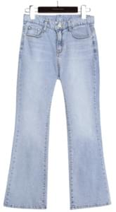 VOEL SEMI BOOTS CUT DENIM PANTS