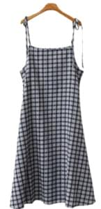Water check dress