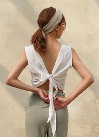 Linen crop sleeves