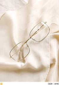 MOTTE GOLD SQUARE GLASSES