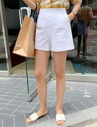 Formal linen shorts_B (size : S,M)
