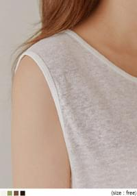 SENIA LINEN LINE SLAB SLEEVELESS