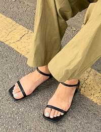 Stamp double strap sandal_N