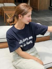 casual lettering cotton tee