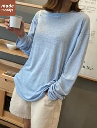 Drop shoulder loose fit linen