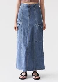 Retro denim skirt