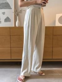 wearable linen wide pants