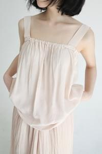 flare banding silky sleeveless (3colors)