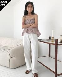FRESH A cotton long pants