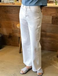 wide fit stitch cotton pants