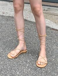 Cross string gladiator sandal_Y