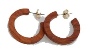 natural slim wood earring 耳環