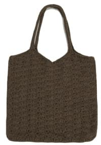 daily knitting shoulder bag