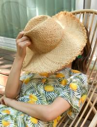 casual point raffia hat