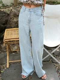 real maxi denim pants