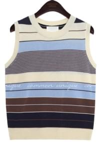 RONDY COLOR MIX KNIT SLEEVELESS