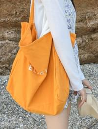 delight canverse eco bagpastelton lettering canvas bag