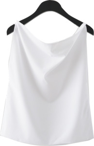 draping neck sleeveless