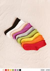 9 COLOR RAINBOW RAYON HIGH SOCKS