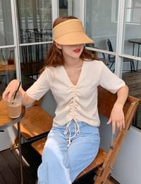 Julia string v-neck blouse_A