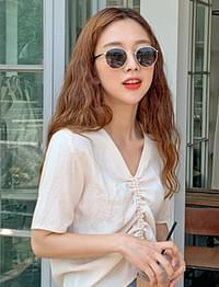 Grace slim metal sunglass_C