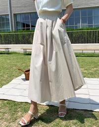 Hippie flare long skirt