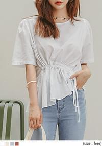 MABIL STRING COTTON 1/2 BLOUSE