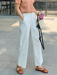 Basic cool cotton pants_A