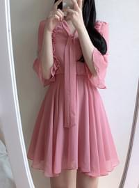 Mulan Frill Ribbon Dress