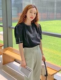 Clara stitch puff blouse_J
