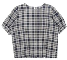 Differential check blouse