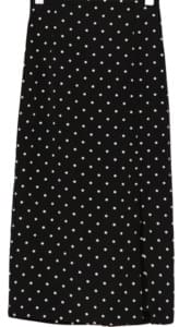 slit detail dot skirt