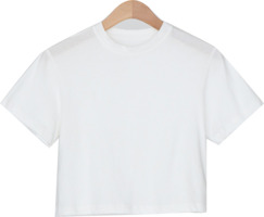 clean cotton crop tee