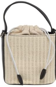 Rattan strap cross bag_A
