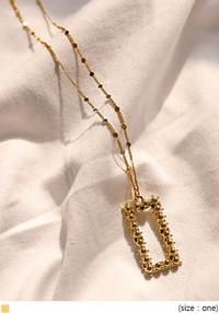 DIAN GOLD SQUARE NECKLACE