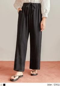LOBBY BANDING WIDE COTTON PANTS
