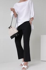 Chalang Boots Cut Crop Slacks