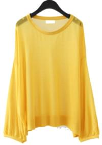 see-through drop shoulder knit
