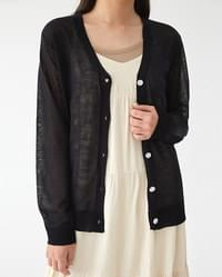 only see-through cardigan