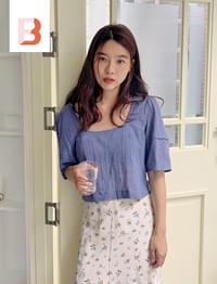 Luna wrinkle two-way blouse_A