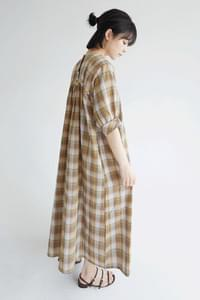ethnic warm check dress