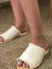 two way cross chain anklet