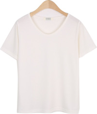 MORE BASIC U-neck short sleeve tee