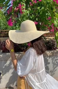 Beach Frill Wide Hat